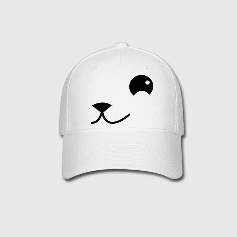 side of cat or teddy or puppy face kawaii Caps - Baseball Cap