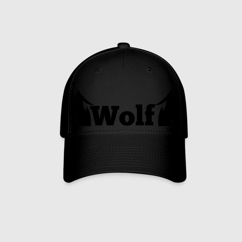 wolf in type with cute ears Caps - Baseball Cap