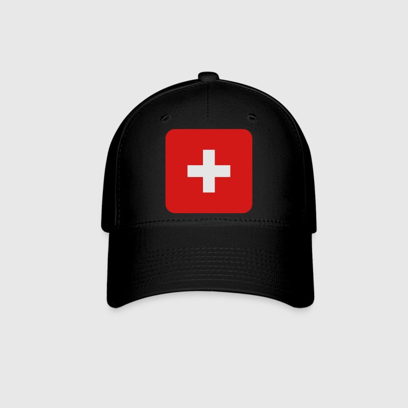 MEDIC white cross on a red button square rectangle Caps - Baseball Cap