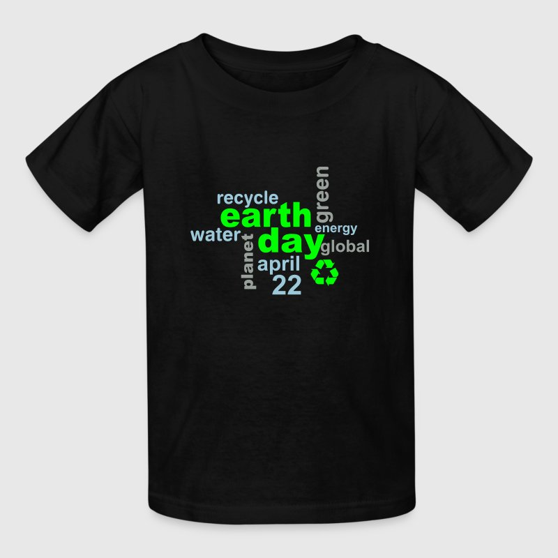 Earth Day Words - Kids' T-Shirt