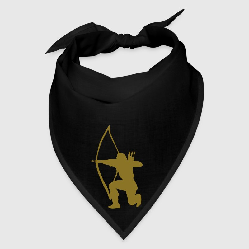 longbow english archer medieval symbol Caps - Bandana