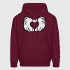 mickey_mouse_hand_heart - Men's Hoodie