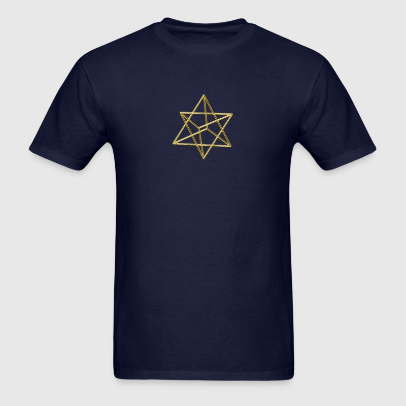 Merkaba, 3D, digital gold, divine light vehicle, T-Shirts - Men's T-Shirt