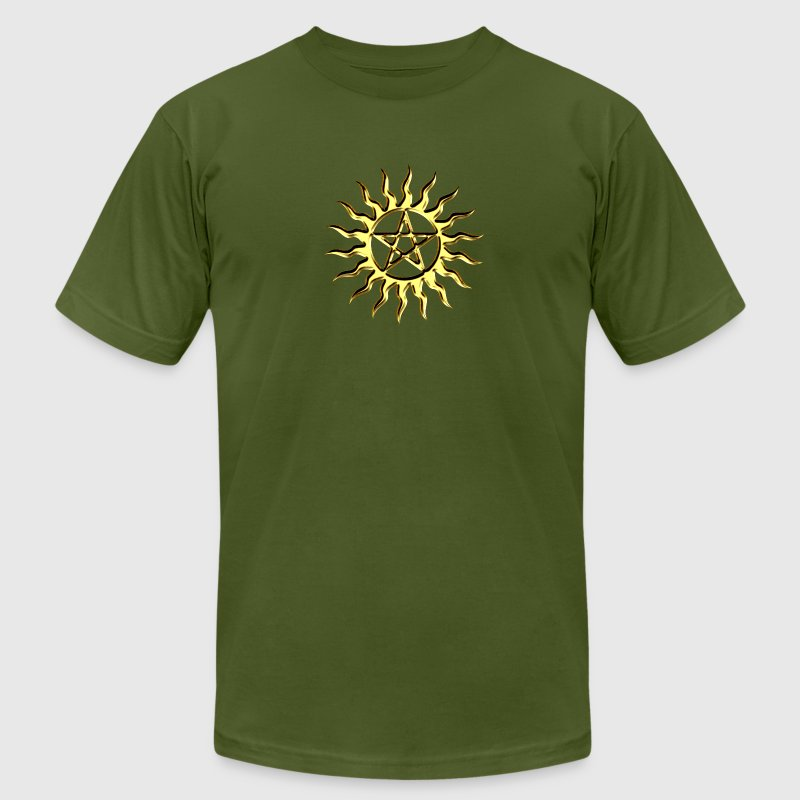 Pentagramme - Pentagram - Blazing Star- ancient magic symbol, DD, protective amulet, energy symbol T-Shirts - Men's T-Shirt by American Apparel
