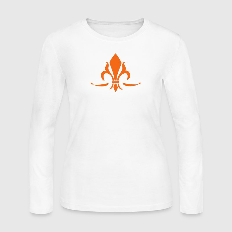 Lily Flower, trinity symbol Charity, Hope, Faith 2 Long Sleeve Shirts - Women's Long Sleeve Jersey T-Shirt