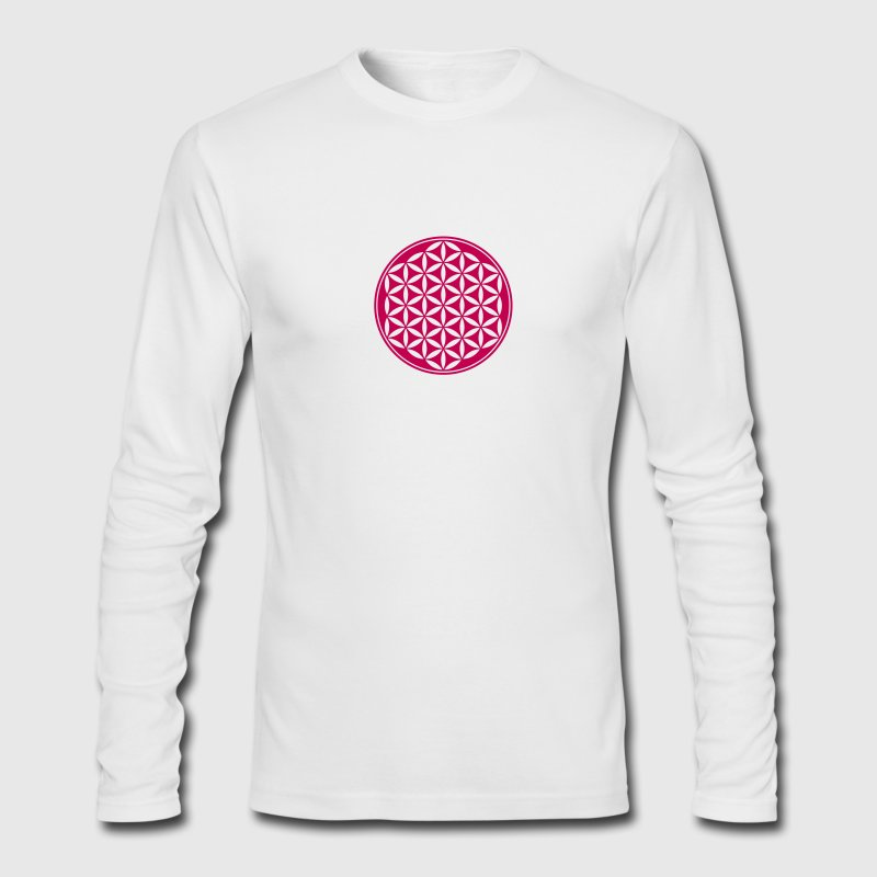 Flower of Life - Vector- Sacred Geometry, energy symbol, healing symbol,  Long Sleeve Shirts - Men's Long Sleeve T-Shirt by Next Level