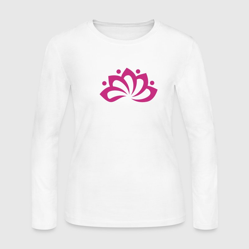 Lotus Flower, c, vector, symbol of perfection and enlightenment, sacred symbol Long Sleeve Shirts - Women's Long Sleeve Jersey T-Shirt