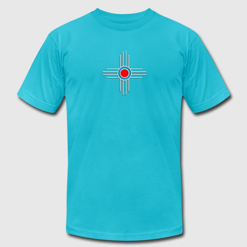 Zia Sun, Zia Pueblo, New  Mexico, Sun Symbol, DD 2 T-Shirts - Men's T-Shirt by American Apparel