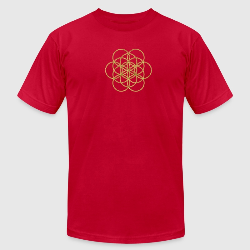 Flower of Life - Feel the Harmony! EGG OF LIFE, Healing Symbol, Harmony, Balance T-Shirts - Men's T-Shirt by American Apparel