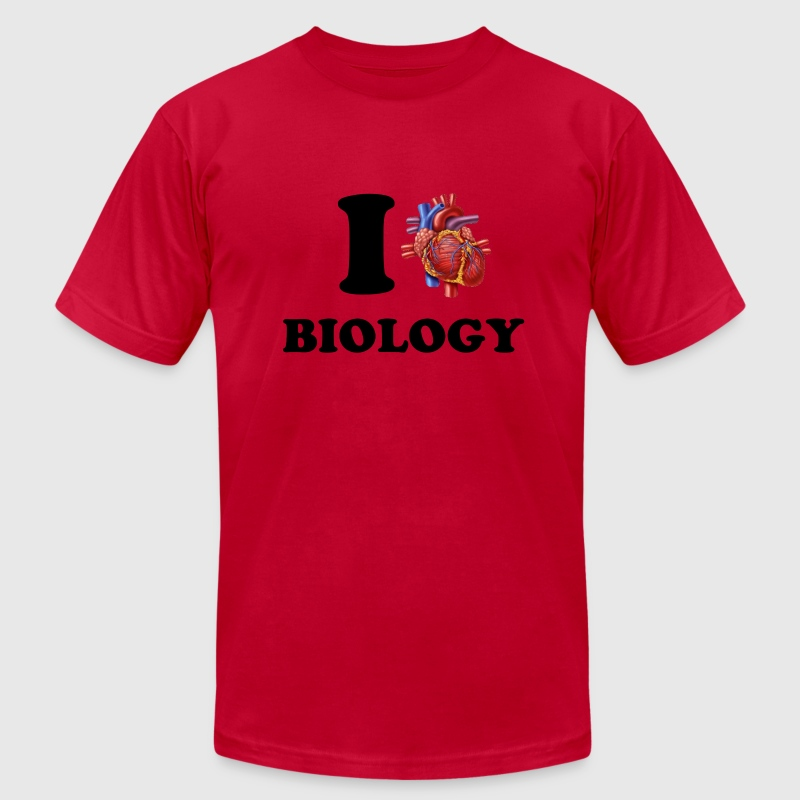 I  *heart* Biology - Men's T-Shirt by American Apparel