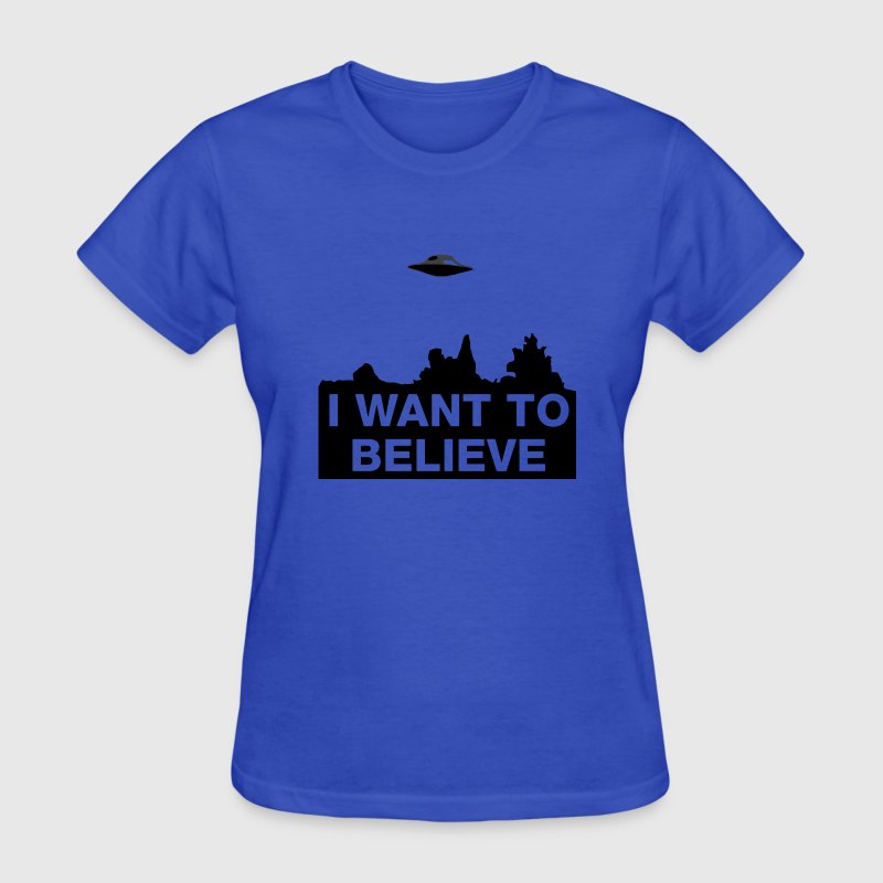 I WANT TO BELIEVE Women's T-Shirts - Women's T-Shirt
