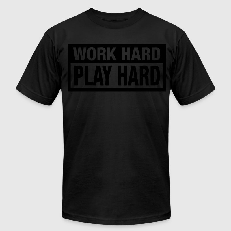 Work Hard Play Hard T-Shirts - stayflyclothing.com - Men's Fine Jersey T-Shirt