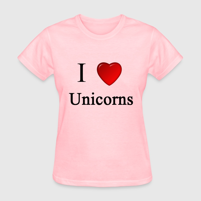 i love unicorns heart magical magic - Women's T-Shirt