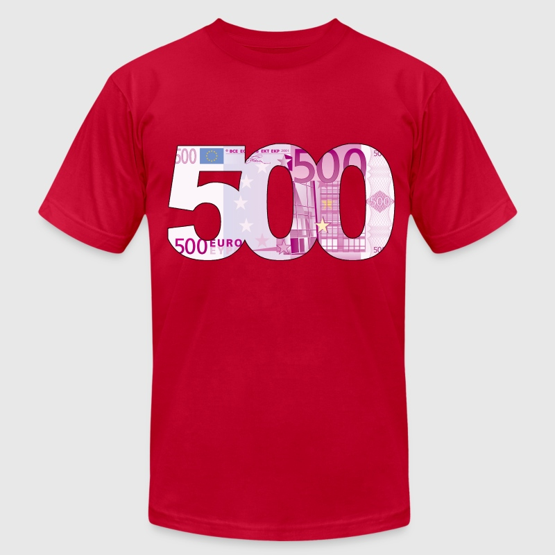 500 Euros (2 Sided!) - Men's T-Shirt by American Apparel