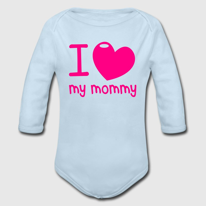 I LOVE MY MOMMY! with cute little love heart Baby & Toddler Shirts - Long Sleeve Baby Bodysuit