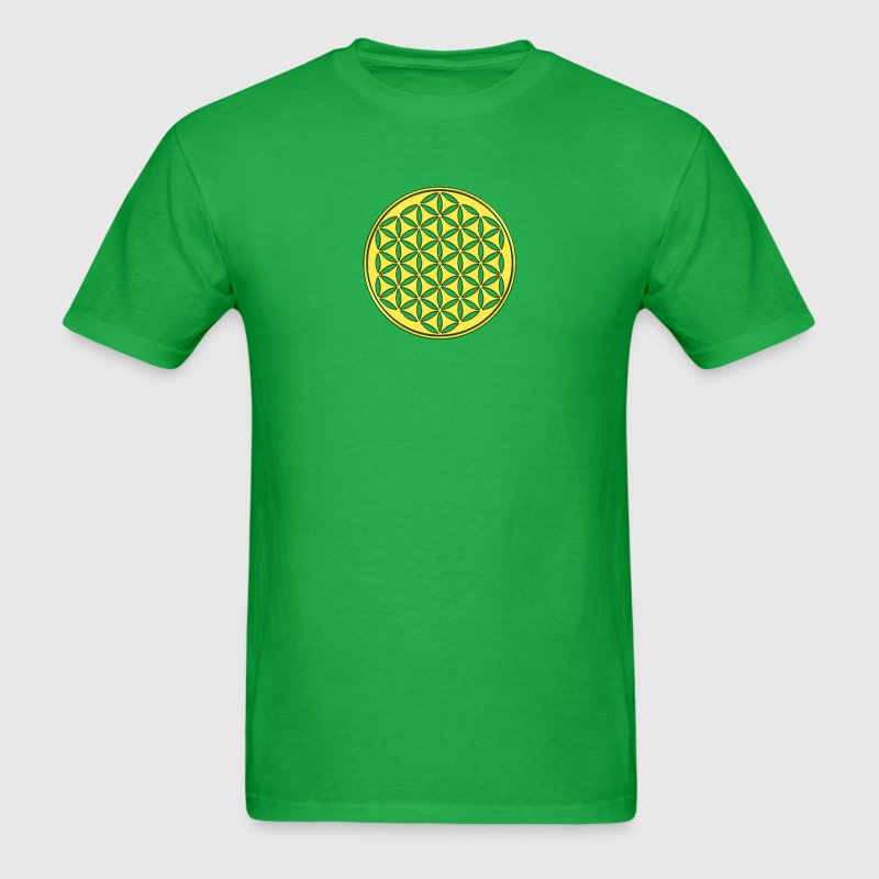 Flower of life - gold - sacred geometry - power of balancing and energizing, energy symbol T-Shirts - Men's T-Shirt