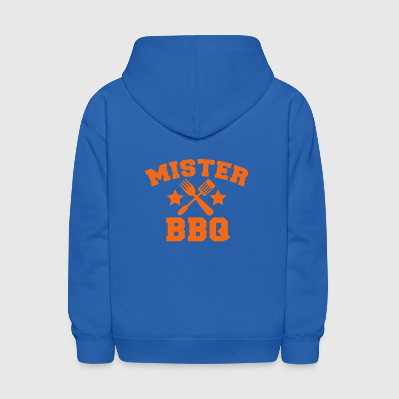 MISTER BBQ barbecue with grilling fork spatula and stars Sweatshirts - Kids' Hoodie