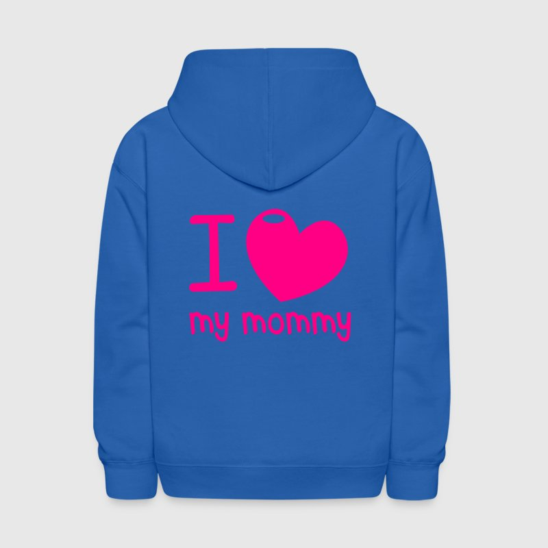 I LOVE MY MOMMY! with cute little love heart Sweatshirts - Kids' Hoodie
