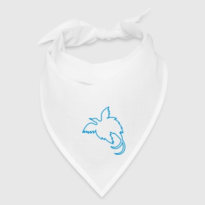 bird of paradise - blue bird Buttons - Bandana