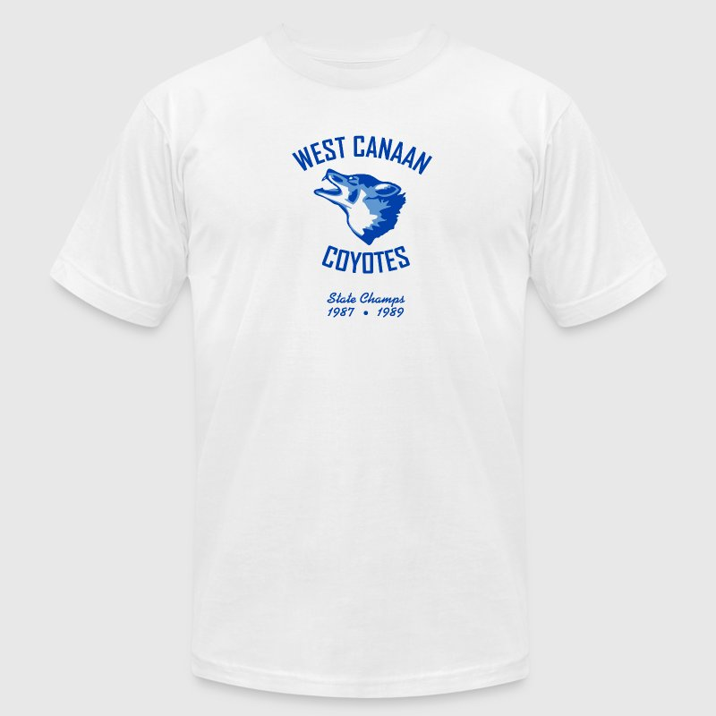 West Canaan Coyotes T-Shirt (White) - Men's T-Shirt by American Apparel