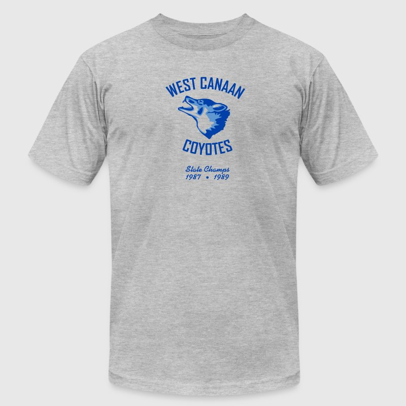 West Canaan Coyotes T-Shirt (Gray) - Men's T-Shirt by American Apparel