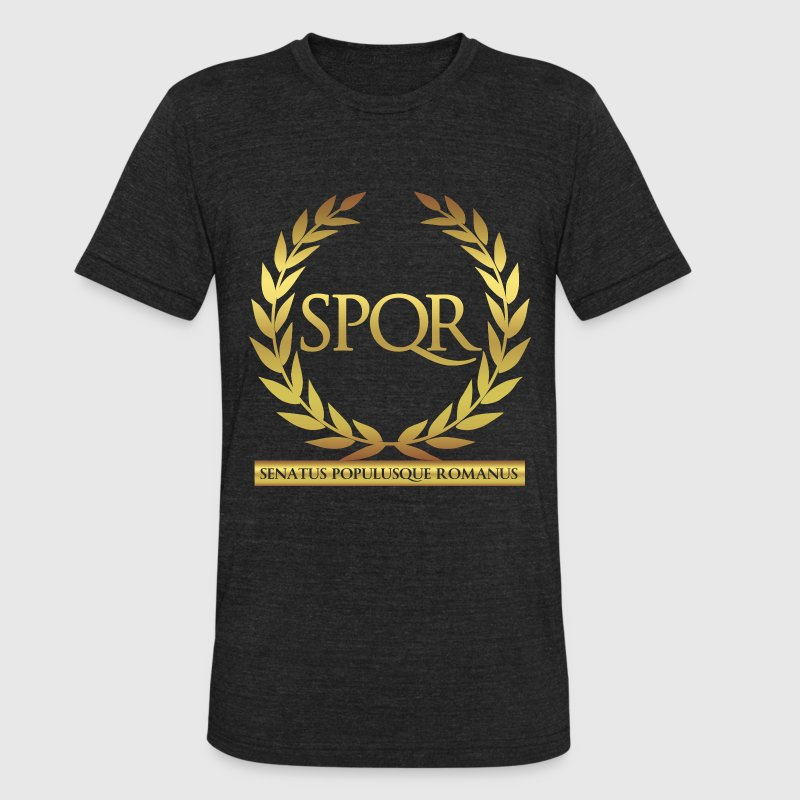 SPQR T-Shirts - Unisex Tri-Blend T-Shirt by American Apparel