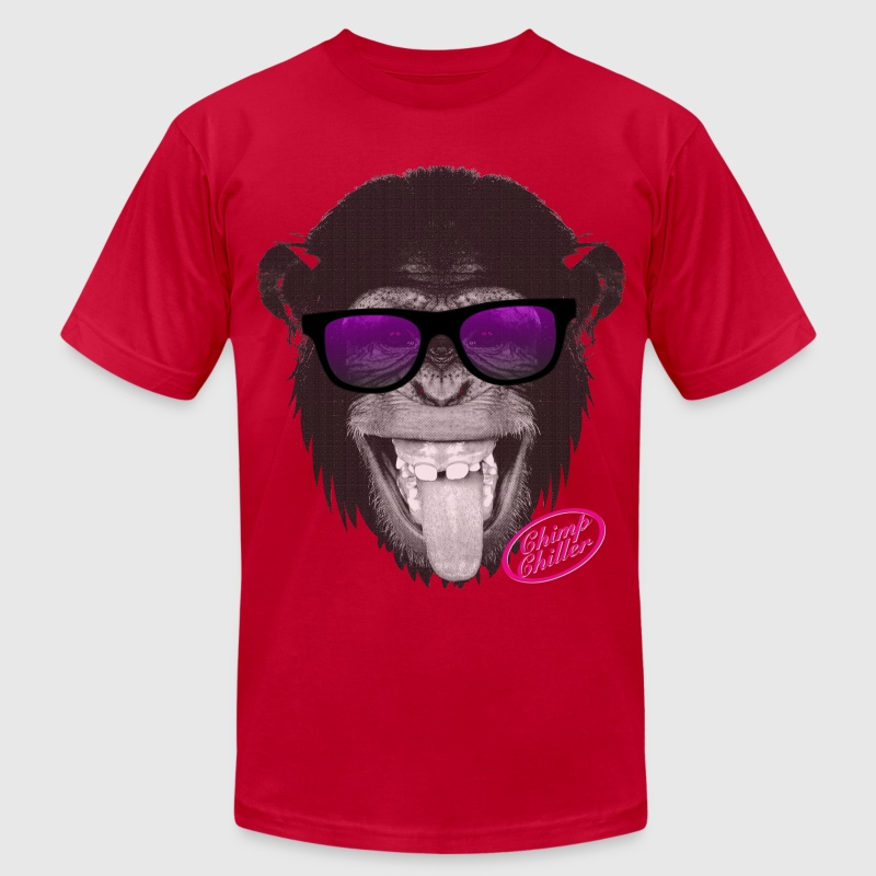Chimp Chiller - Sunglasses T-Shirts - Men's T-Shirt by American Apparel