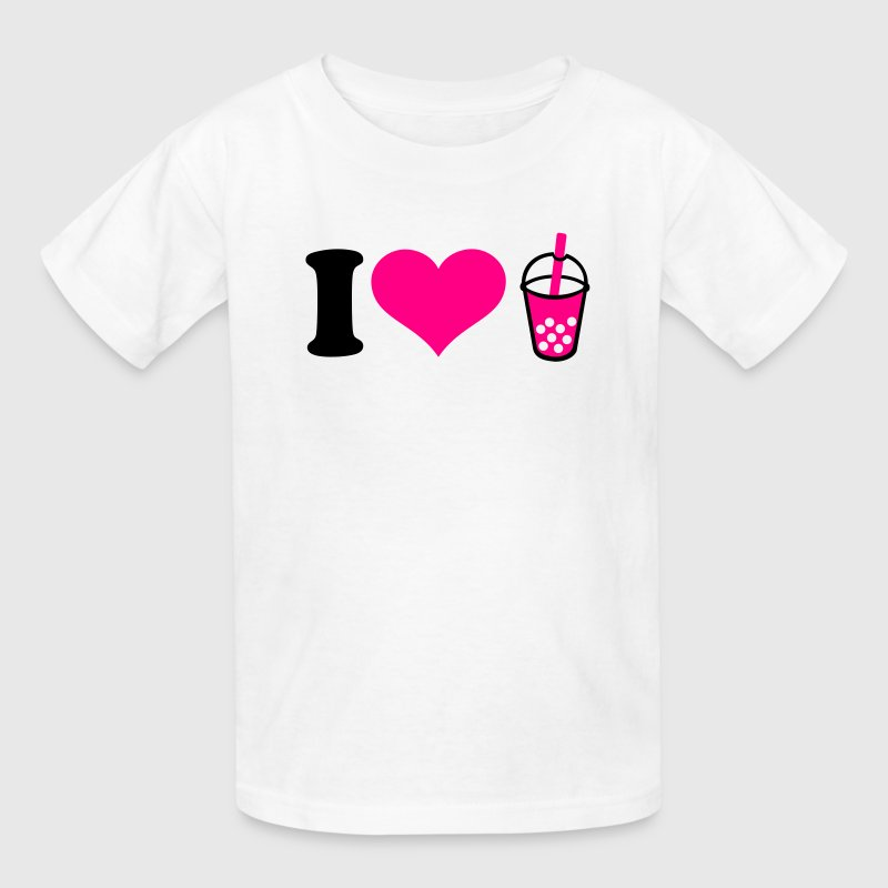 I love Bubble Tea Kids' Shirts - Kids' T-Shirt