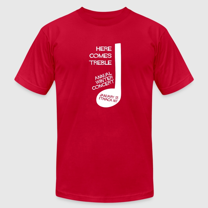 Here Comes Treble T-Shirt (Red) - Men's T-Shirt by American Apparel