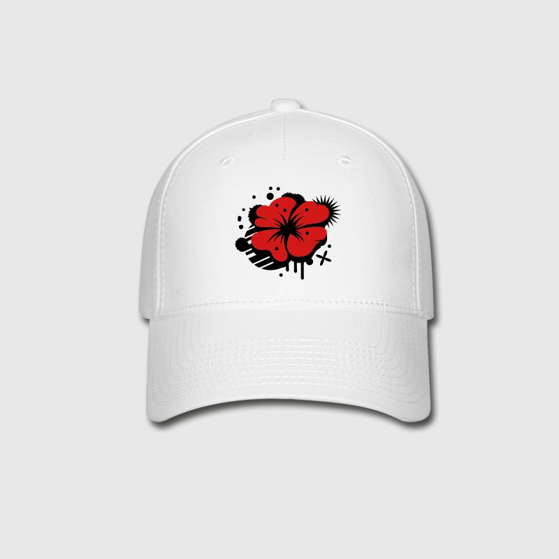 A poppy as a graffiti Caps - Baseball Cap