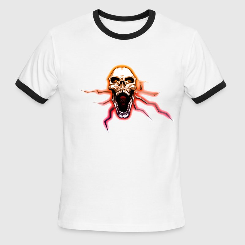 Open Mouth Skull T-Shirts - Men's Ringer T-Shirt