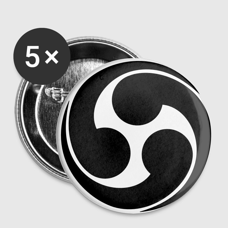 Family Symbol - Japanese - VECTOR Buttons - Large Buttons