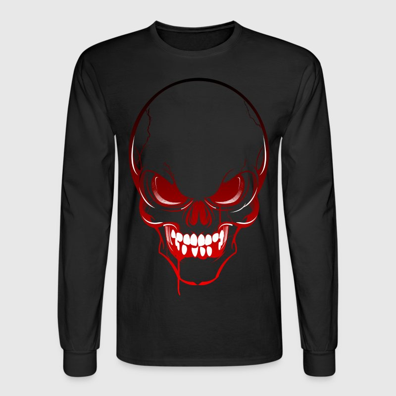 Horror Skull Long Sleeve Shirts - Men's Long Sleeve T-Shirt