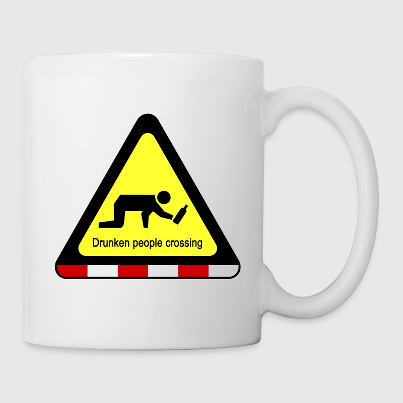 Drunken people crossing sign - Coffee/Tea Mug