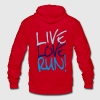 Live Love Run! Zip Hoodies/Jackets - Unisex Fleece Zip Hoodie by American Apparel