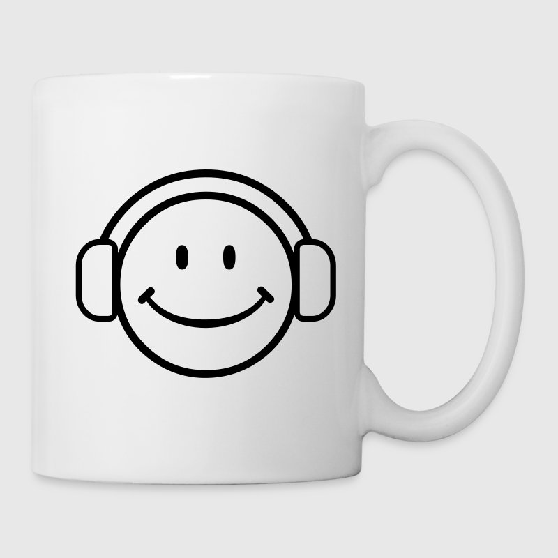 DJ Happy Face - VECTOR Gift - Coffee/Tea Mug
