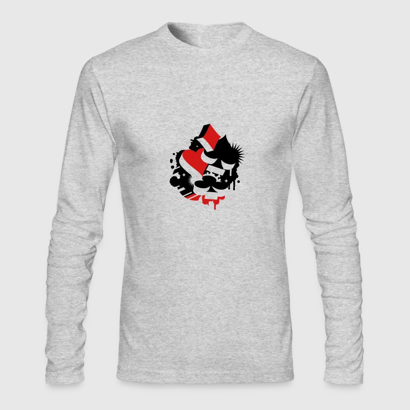 Four playing cards symbols Heart, spade, diamond, club  Long Sleeve Shirts - Men's Long Sleeve T-Shirt by Next Level