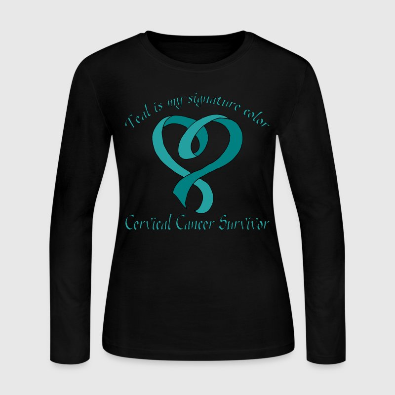 Teal Signature Color - Women's Long Sleeve Jersey T-Shirt