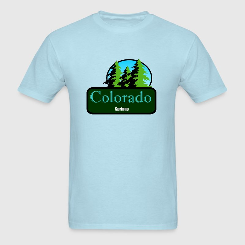colorado springs t shirt truck stop novelty  - Men's T-Shirt