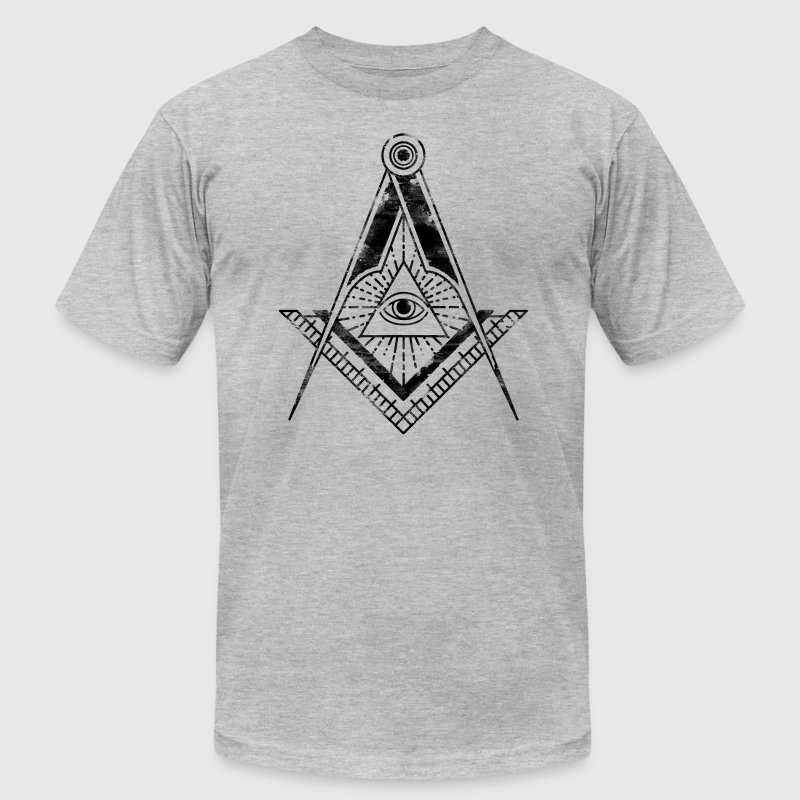 All seeing eye faded black t shirt spreadshirt for Faded color t shirts