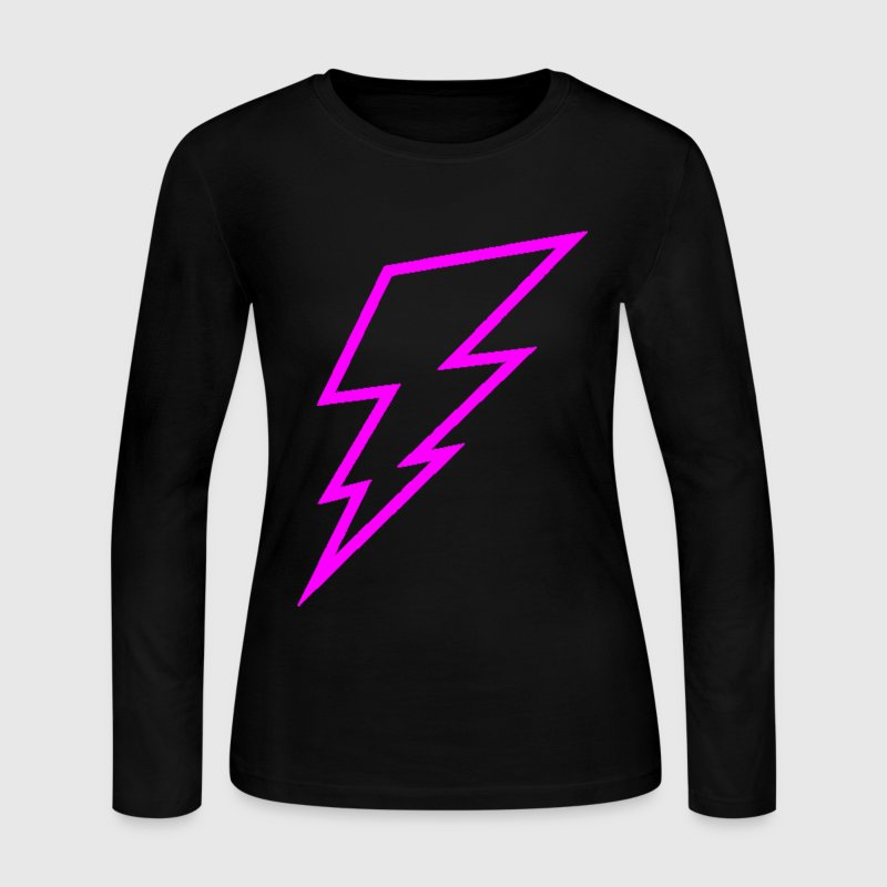 Pink Lightning Bolt Long Sleeve Shirts - Women's Long Sleeve Jersey T-Shirt