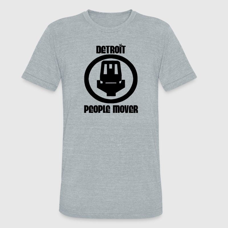 Detroit People Mover T-Shirts - Unisex Tri-Blend T-Shirt by American Apparel