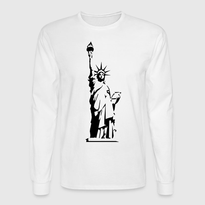 Statue of Liberty - VECTOR Long Sleeve Shirts - Men's Long Sleeve T-Shirt
