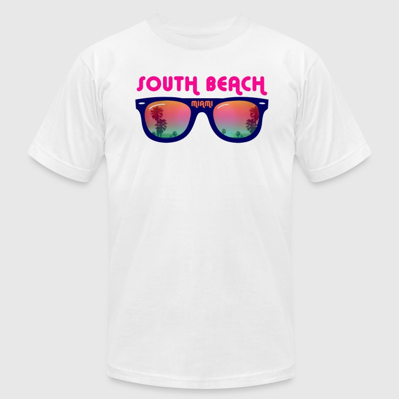 South Beach Miami sunglasses T-Shirts - Men's T-Shirt by American Apparel
