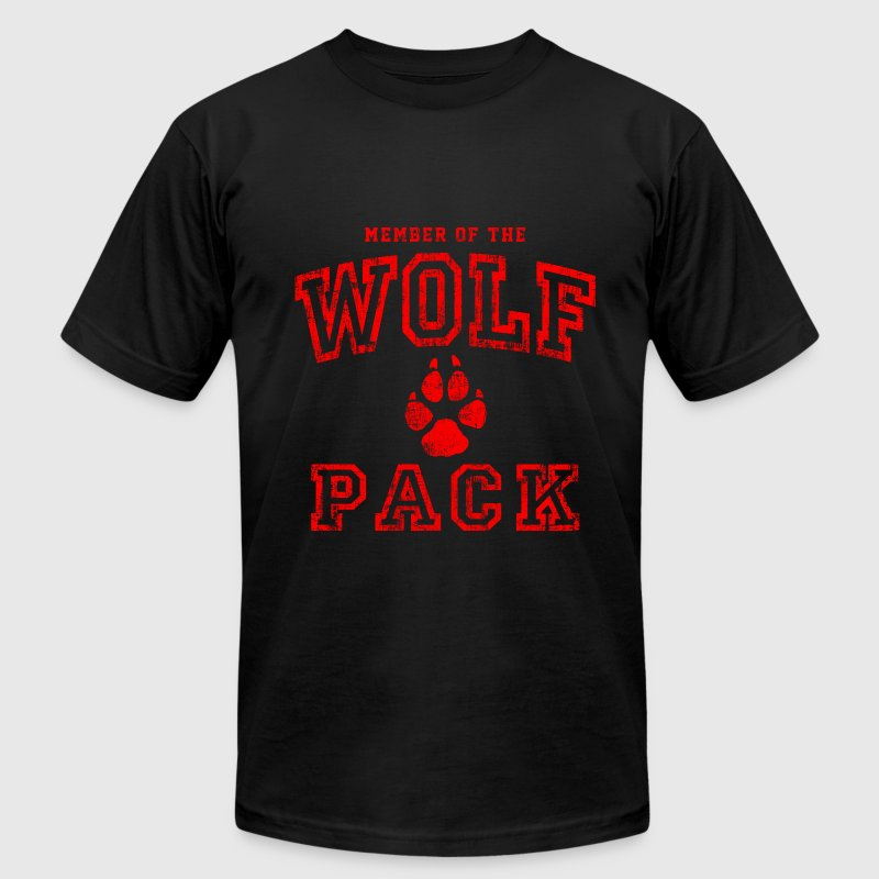 Wolf Pack Red T-Shirts - Men's T-Shirt by American Apparel