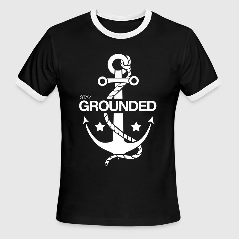 Stay Grounded (White) - Men's Ringer T-Shirt