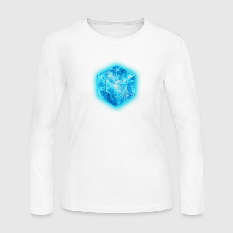 Hypercube 4D - TESSERACT , digital, Symbol - Dimensional Shift, Metatrons Cube,  Long Sleeve Shirts - Women's Long Sleeve Jersey T-Shirt