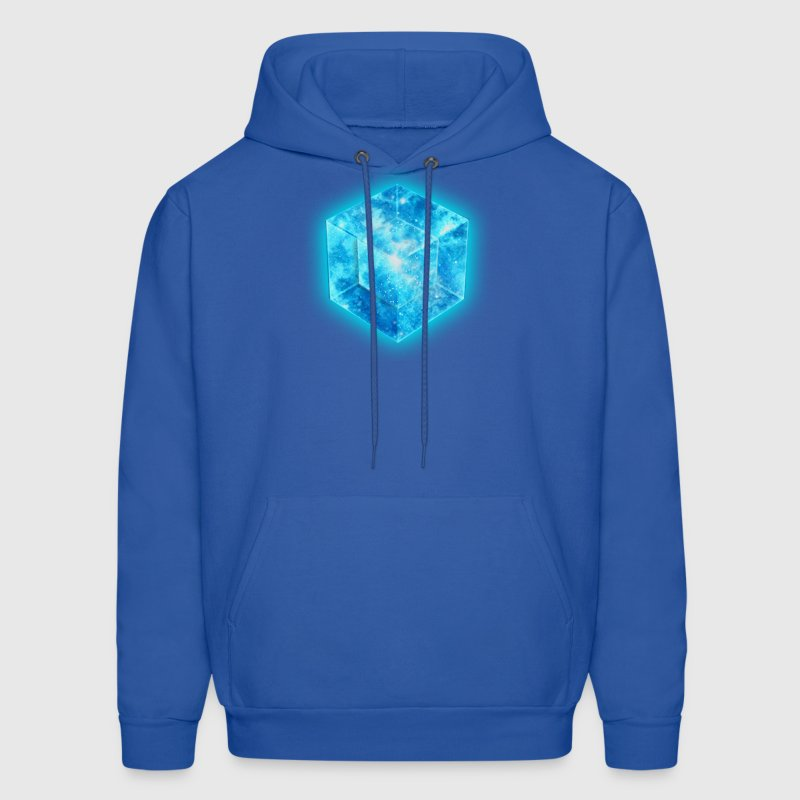 Hypercube 4D - TESSERACT , digital, Symbol - Dimensional Shift, Metatrons Cube,  Hoodies - Men's Hoodie