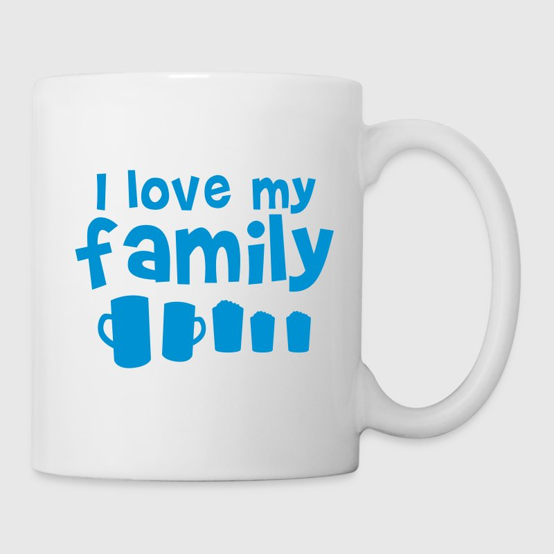 I LOVE MY FAMILY with all different types of beer pint glasses New Apparel - Coffee/Tea Mug