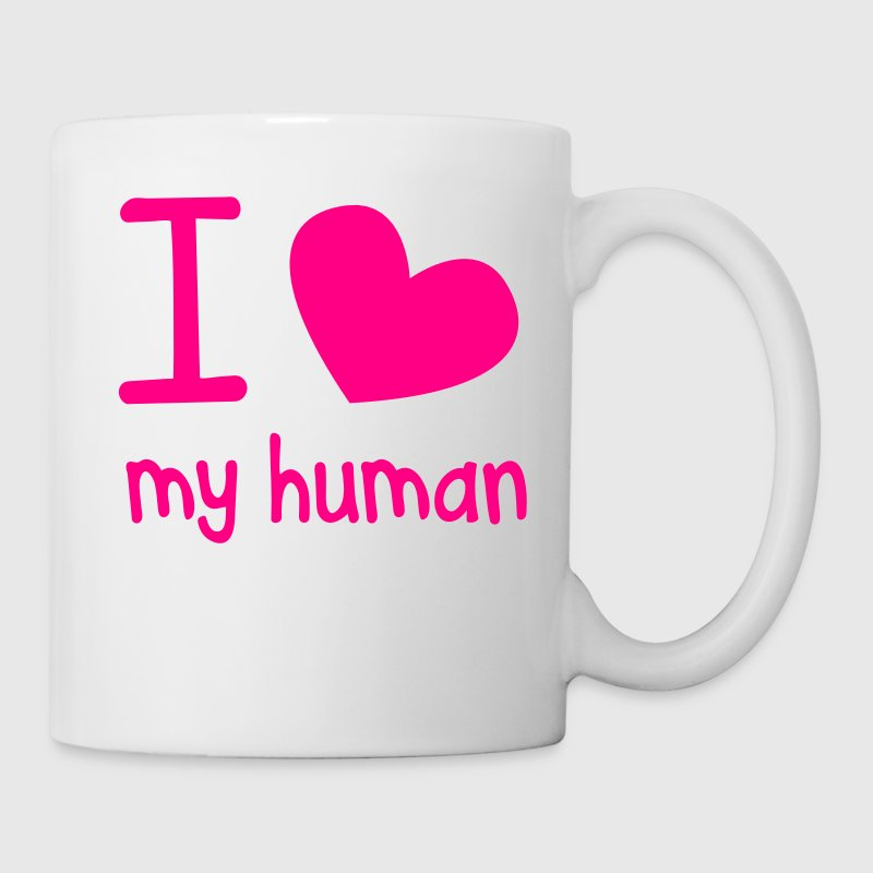 I LOVE MY HUMAN perfect for pet owners and lovers New Apparel - Coffee/Tea Mug